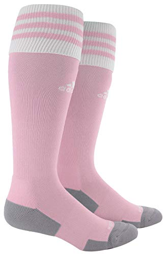 adidas Unisex Copa Zone Cushion II Soccer Sock (1-Pair), Diva/White, 5-8.5