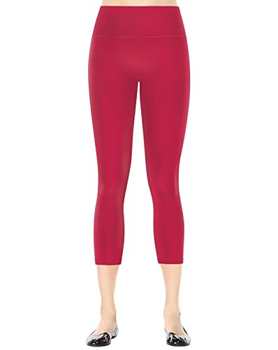 SPANX Women's Ready to Wow! Capri Structured Leggings Very Berry Pants SM X 19