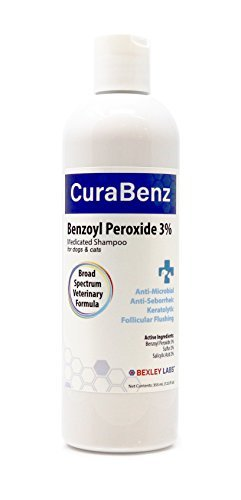 #1 Benzoyl Peroxide Shampoo, Effective for Mange, Demodex, Dandruff, Seborrhea, Pyoderma, Mites & Acne, Penetrates Deep Removing Excess Oil & Debris, Broad Spectrum Formula, Satisfaction Guarantee by Bexley Labs
