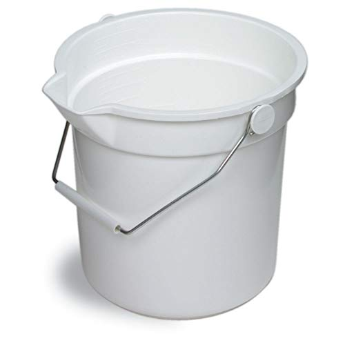 (Continental 8114WH Huskee White 14 qt Bucket )