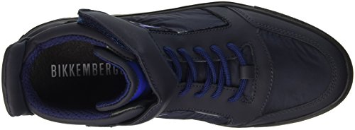Fabric Shoe Mid Er M Collo a Leather Blu Uomo Bikkembergs 766 Scarpe Alto Track nI0TWqB