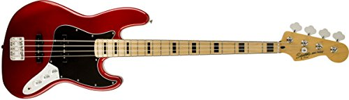 Squier by Fender 0306702509 306722521 Vintage Modified Jazz Bass '70s Candy Apple Red