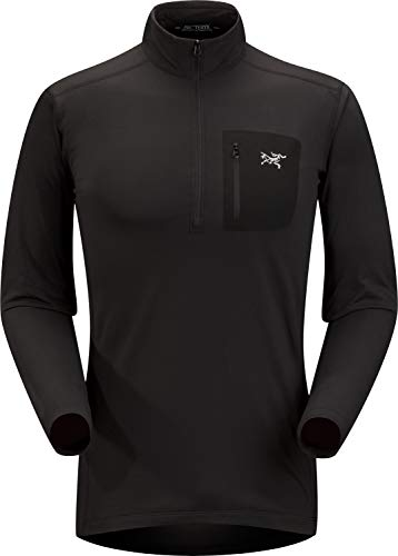 Arc'teryx Rho LT Zip Neck Men's (Black, Large) from Arc'teryx