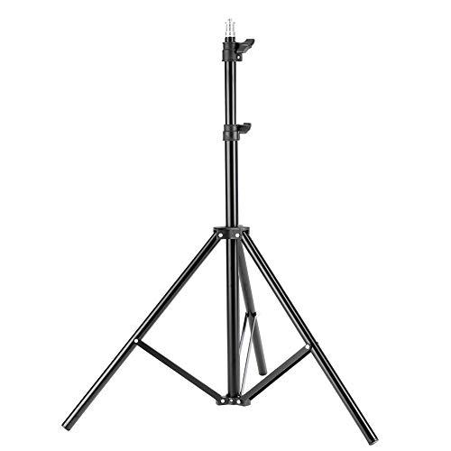 Andoer Aluminum Tripod with 3-Way Folding Studio Photography Light Holders Flash Speedlight Umbrella Stand 1/4 Head Lighting Stands Bracket Tripod (1600mm)