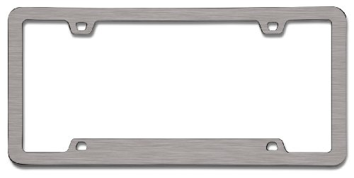 Cruiser Accessories 15190 Neo Sport License Plate Frame, Brushed Nickel