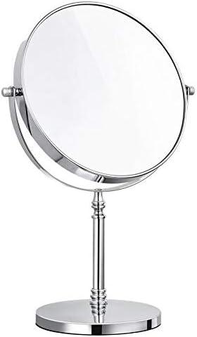 8インチ両面メイクアップミラー3X拡大鏡360°回転簡単な清掃デスクトップ用美容ミラー