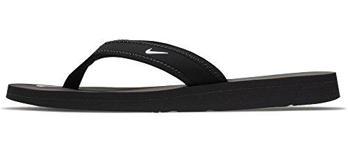 Nike Womens Celso Thong Flip Flops Open Toe Shoes (9, Black)
