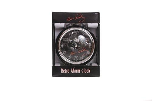 Elvis Presley Retro Bedside Black Alarm Clock Gift Box