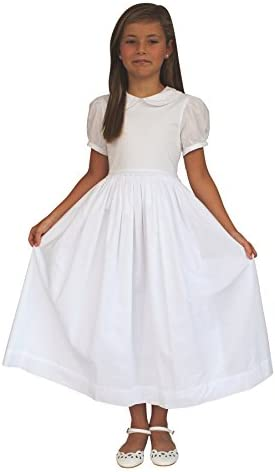 430d0652f Strasburg Children Girls Mary First Communion Dress White Baptism Dress  With Sleeves
