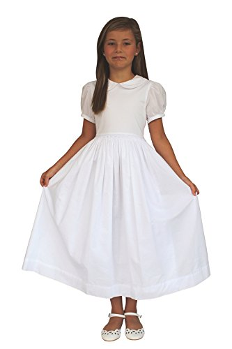 Strasburg Children Mary Classic Girls First Communion Dress Simple White Baptism Dress(10)