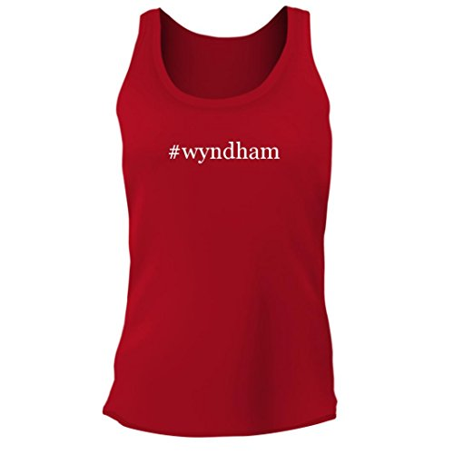 Tracy Gifts  Wyndham   Womens Junior Cut Hashtag Adult Tank Top  Red  Large
