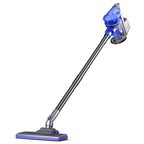 COSTWAY Stick Vacuum Cleaner Portable Electric Lightweight Bagless Detachable Cyclone Suction Handheld Vacuum for Home and Office with Washable Filter Blue