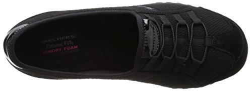 Skechers Damen Breathe-easy Sneakers Good Life Nero / Nero