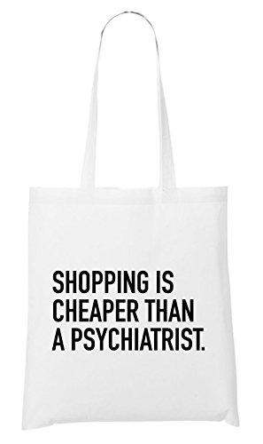 Shopping Is Cheaper... Bag White