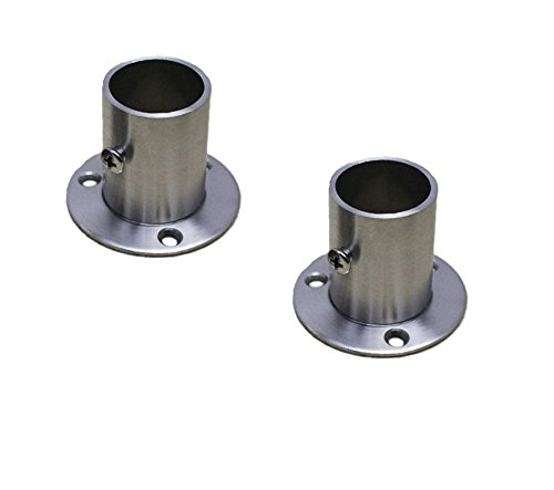 Closet Rod Flanges - NELXULAS Stainless Steel Closet Rod Flange Holder for Pipe (AX1)