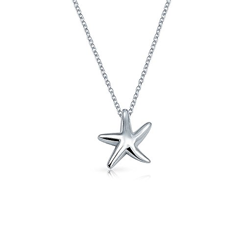 - Nautical Small Starfish Beach Pendant Necklace For Women For Teen Girlfriend Polished 925 Sterling Silver
