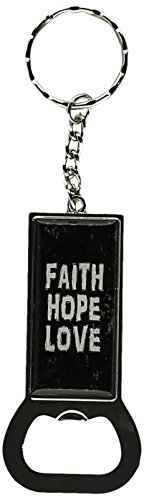 Graphics and More Ring Bottlecap Opener Key Chain, Faith ...