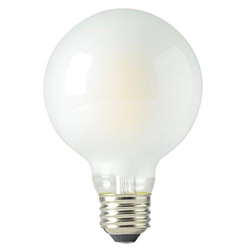 Kichler Frosted Globe 40W Candelabra base Equivalent 4w Dimmable Amber G25 Globe Vintage LED Decorative Light Bulb Vintage Antique Style Light (Kichler Incandescent Candle)