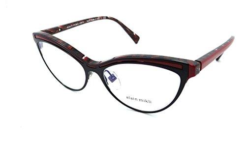 3da71898550 Alain Mikli Rx Eyeglasses Frames A03072 002 54-16-140 Matte Black Red
