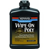 Water-Base Wipe-On Polyurethane 16fl oz (Wood Stain Rub)