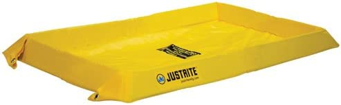 Justrite Manufacturing Company LLC 28408 - Maintenance Spill Berm - PVC coated fabric, Yellow, 60 in Wide, 84 in Long