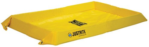 Justrite Manufacturing Company LLC 28410 - Maintenance Spill Berm - PVC coated fabric, Yellow, 60 in Wide, 108 in Long