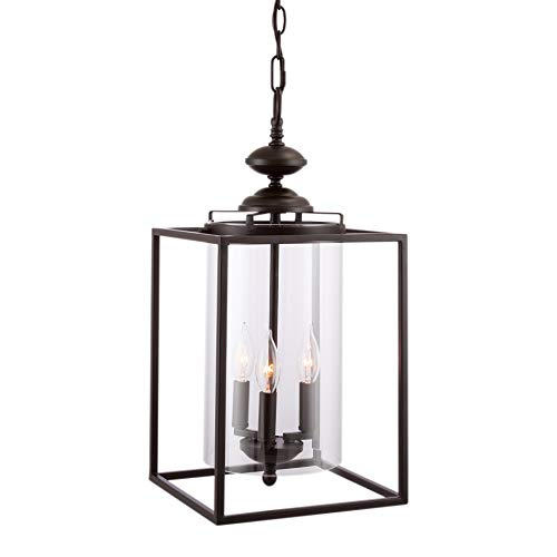 Rectangular Pendant Light With Shade in US - 7
