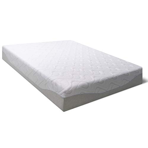 Best Price Mattress 11 Gel Infused Memory Foam Mattress Queen Size, White