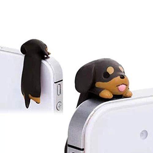 - ZOEAST Brown Dachshund Rottweiler Yorkshire Terriers Dog Dust Plug 3.5mm Phone Headphone Jack Earphone Cap Ear Cap Dust Plug Charm iPhone 4 4S 5 5S 6 6S Plus HTC Samsung IPad iPod etc (Dachshund)