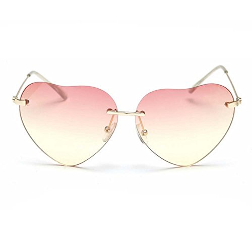 LOMOL 2016 New Korean Style Womens Personality Cute heart-shaped UV Protect - Check Glasses How Polarized To