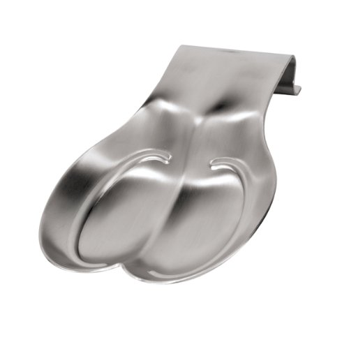 Oggi 7169 Double Stainless Steel Spoon Rest