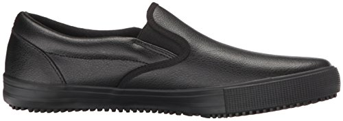 Skechers Work Mens alcade Industrial and Construction Slip Resistant Shoe Black