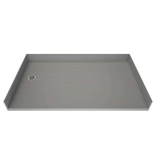 30 Drain Left (Tile Redi 3060LBF-PVC Barrier Free Shower Pan with Integrated Left PVC Drain, 30-Inch Depth by 60-Inch Width)