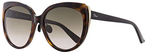Christian Dior ific 1N 3BZHA Womens Havana/Matte Black/Gold 57 mm Sunglasses - havana/matte - Diorific Sunglasses