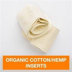 FuzziBunz Organic Cotton/Hemp Inserts 2 Count - Medium/Large