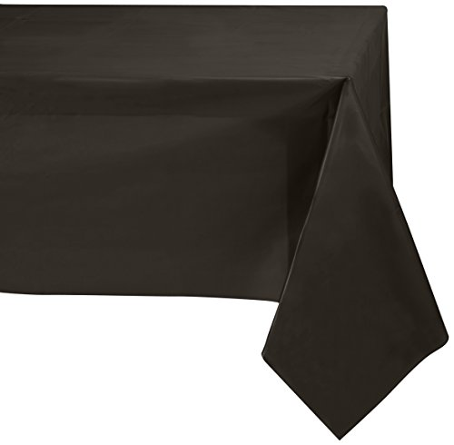 Jubilee 54-Inch-By-108-Inch PEVA Table Cover, 4 Count, (Disposable Round Table Covers)