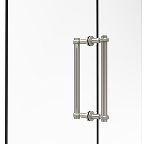 Allied Brass 404T-12BB-SN Contemporary 12 Inch Back Shower Door Pull with Twisted Accent, Satin Nickel ()