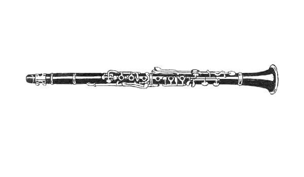 7 cm x 5 cm de acrílico llavero clarinete dibujo lineal ...