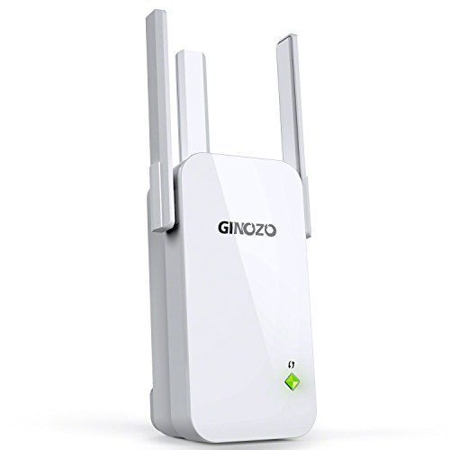 WiFi Range Extender, Ginozo R3 Wireless N300 WiFi Repeater 2.4GHz Internet Network Signal Amplifier Booster with 3 External Antennas (1 Pack)