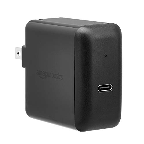 AmazonBasics 30W One-Port USB-C 3.0 Wall Charger for Laptops, Tablets and Phones - Black