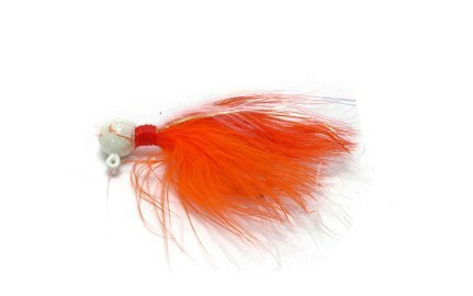 (Danielson Painted Salmon/Steelhead Jig, Peach/White, 1/8-Ounce)
