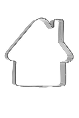 blex Halusky Cottage Shaped Stainless Steel Cookie Cutter, Tinplate, Silver, 1.5 x 5.2 x 4.3 cm