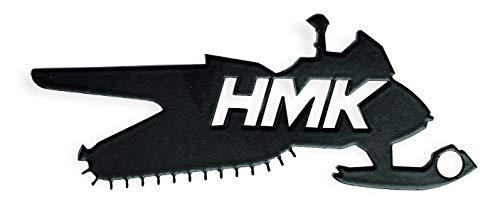 (HMK Snowmobile Key Chain/Bottle Opener (White))