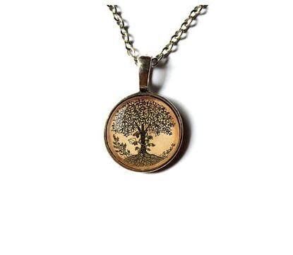 Tree pendant necklace Nature jewelry