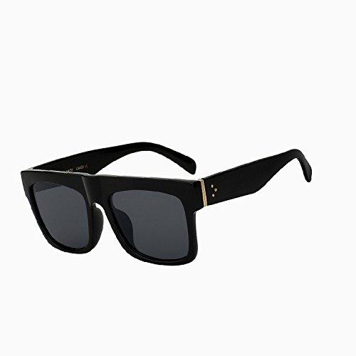 haute qualité nbsp;vintage Black carré Oculos soleil Tianliang04 soleil dessus UV400 Lunettes de black femelle Lunettes lens plat Lunettes large de de femmes awwWTAxHqd