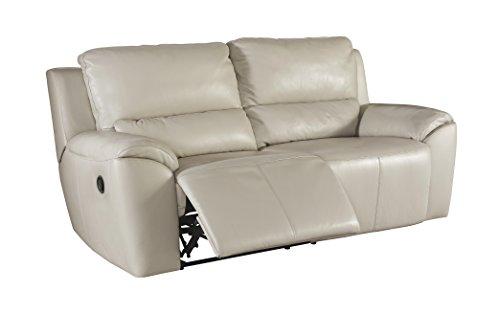 Cheap Ashley Furniture Signature Design – Valeton Reclining Sofa – Sleek Contemporary Recliner – Cream
