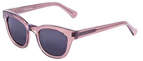 Ocean Sunglasses Santa Cruz Lunettes de Soleil Mixte Adulte, Ginger Transparent/Smoke Lens