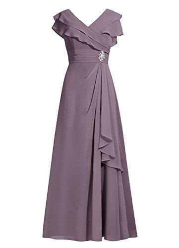 Dresstells®Vestido De Mujer Elegante Largo De Gasa Vestido De Boda De Fiesta Gris