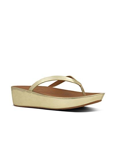 Color Thong EU Sandals Linny Fitflop Toe 42 Mirr Gold Talla Sandalias Mujer EN de BEzqa
