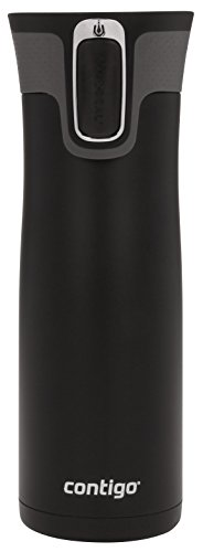 Contigo AUTOSEAL West Loop Vaccuum-Insulated Stainless Steel Travel Mug, 20 oz, Matte Black